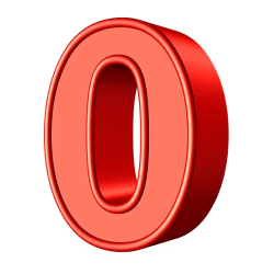 masquer zero 0
