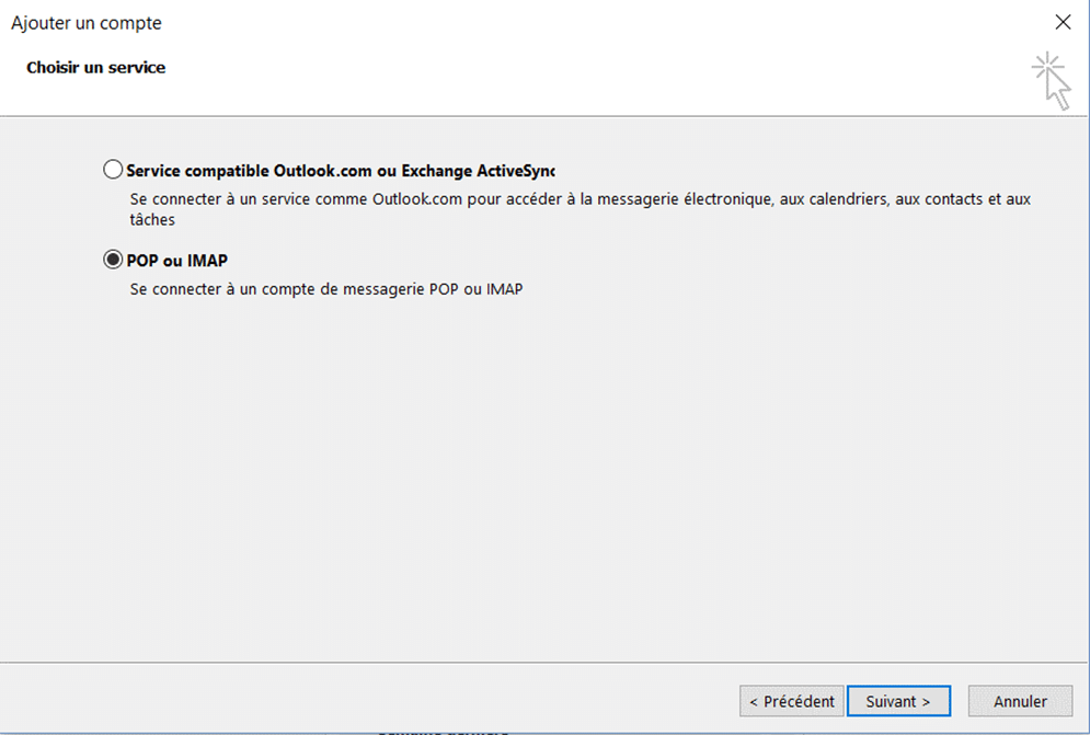 configurer outlook3