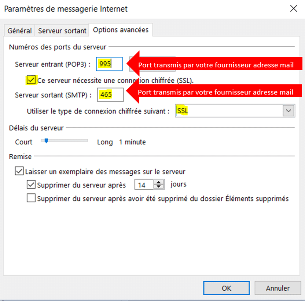 configurer outlook6