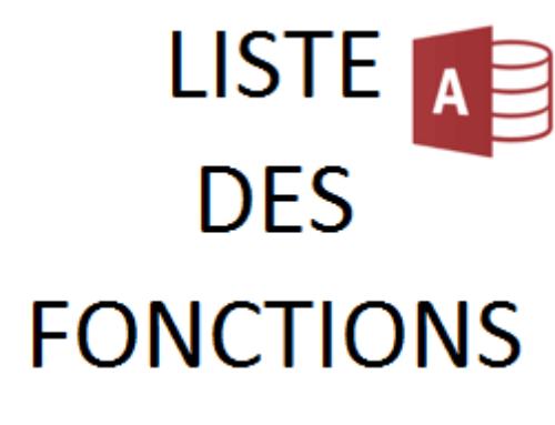 Liste des fonctions ACCESS