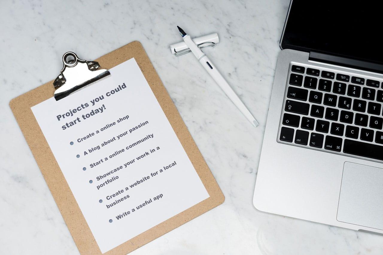 Liste de tâches sur papier