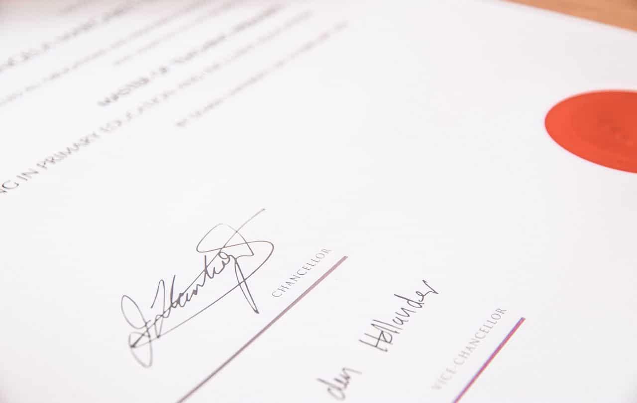 Attestation et signature