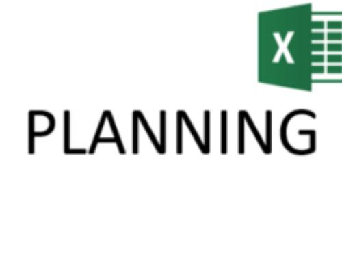 Gestion de planning Excel